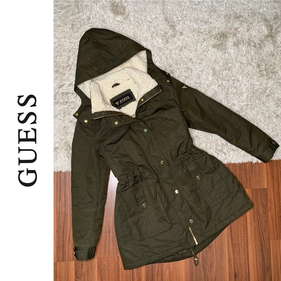 Guess Winter Coat with Drawstring Waist